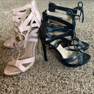 Blush Pink and Black Heel Bundle